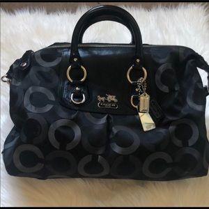COACH Logo Classic  Black Handbag.
